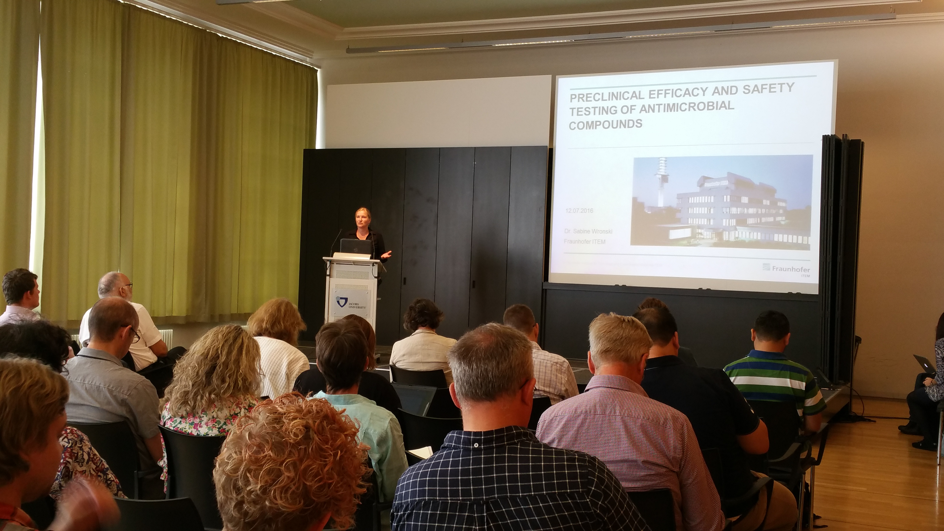 Sabine Wronski (Fraunhofer ITEM, Hannover, Germany) - Preclinical efficacy and safety testing of antimicrobial compounds